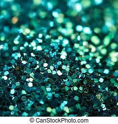 turquoise, makro, baggrund., ferie, skinnende, blurry