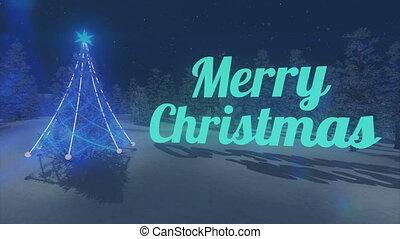 Turquoise Merry Christmas text Loop - Turquoise Merry...