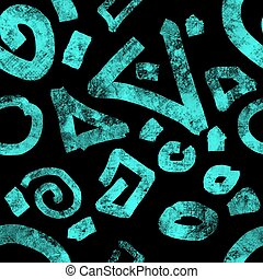 Turquoise on black background graphic