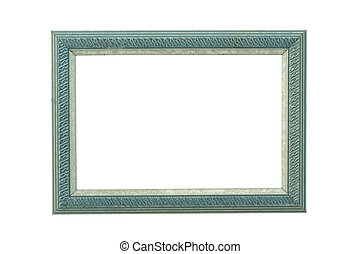 turquoise ornamented wooden frame