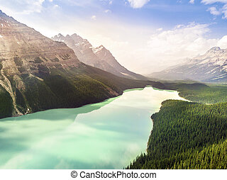Turquoise Peyto Lake in Banff National Park, Alberta, Canada