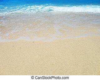 turquoise, plage