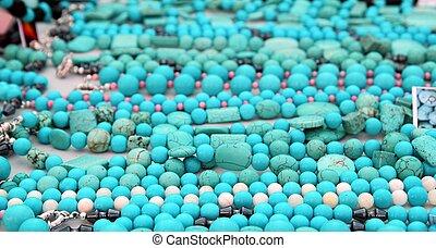 turquoise precious stone necklace jewellery