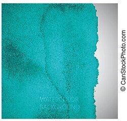 turquoise, résumé, aquarelle, vecteur, conception, fond, ton