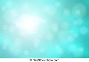 turquoise, résumé, brouillé, lumières, bokeh, arrière-plan vert