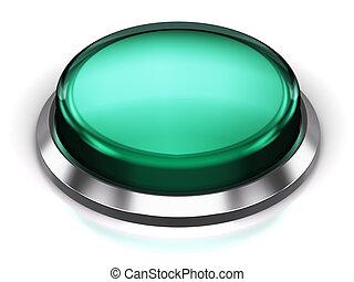 Turquoise round button