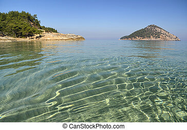 Turquoise sea - The pure waters of the Mediterranean sea at...