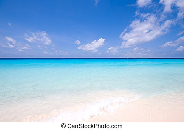 turquoise sea view - tropical turquoise sea landscape with...
