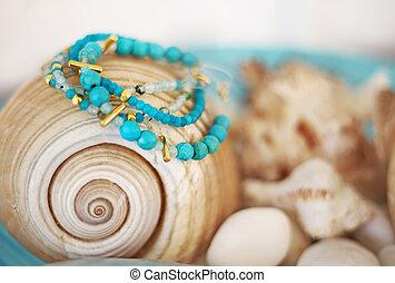 turquoise semi precious stones bracelets advertisement -...
