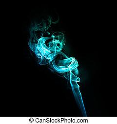 Turquoise smoke