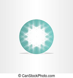 turquoise star abstract circle background design