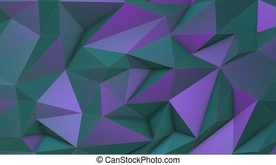 Turquoise-violet beauty low poly triangle background -...