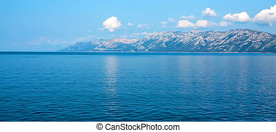 Adriatic sea - Turquoise water of Adriatic sea, Croatia