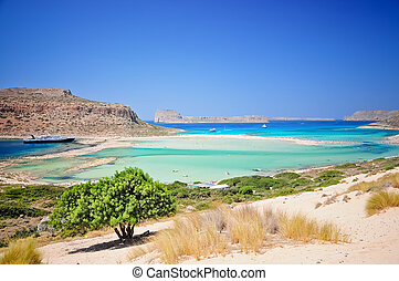 Crete - Turquoise water of Balos bay, Crete, Greece