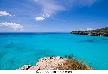 turquoise water viewpoint - turquoise caribbean bay view...