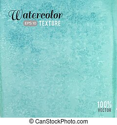 Turquoise watercolor texture - Vector turquoise watercolor...