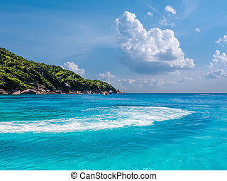 Turquoise waters of Andaman Sea
