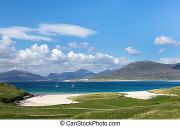 Turquoise waters on Isle of Harris - Turquoise waters of ...