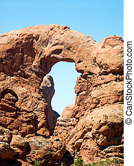 Turret Arch in Arches National Park near Moab, Utah, USA