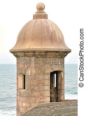 Turret at fortress of San Juan