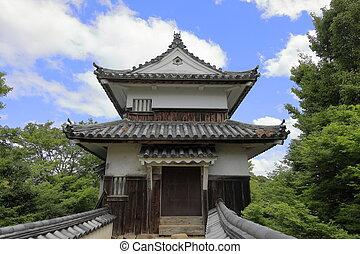turret of Bitchu Matsuyama castle in Okayama, Japan