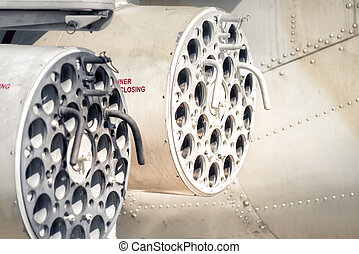 Turret of the anti-tank missile system on helicopter gunship