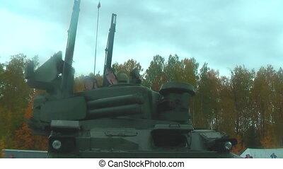 Turret working of Tunguska M1 - Nizhniy Tagil, Russia -...