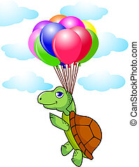 Turtle and balloon