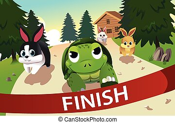 Turtle and hare racing