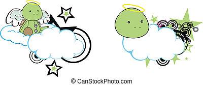 turtle angel cartoon cloud copyspac