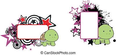 turtle baby cartoon copyspace