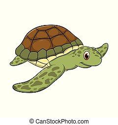 Turtle cartoon drawing illustration