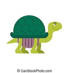 Turtle cartoon style isolated. tortoise Vector illustration.