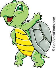 Vector illustration of turtle cartoon