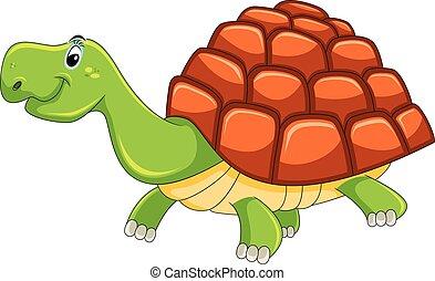 Turtle cartoon vector ilustration