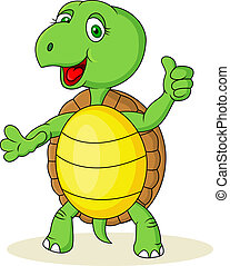 turtle cartoon with thumb up