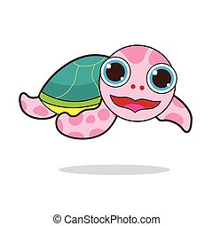 Turtle cute cartoon