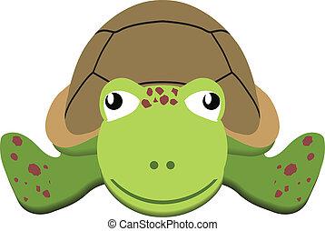 Turtle Flat Art Illustration