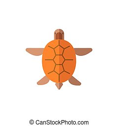 Turtle From Above Primitive Style Childish Sticker