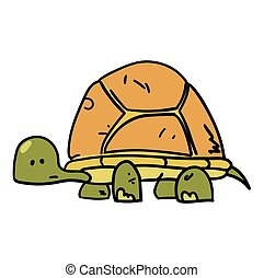 Turtle hand drawn cartoon