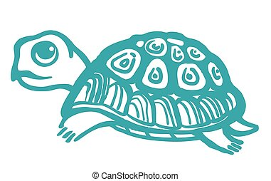 Turtle hand drawn illustration