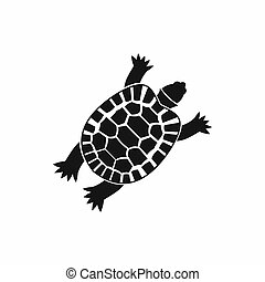 Turtle icon, simple style