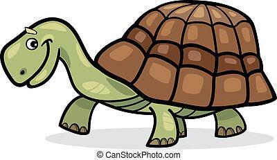 Turtle - Illustration of funny cartoon turtle