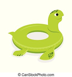 Turtle inflatable rubber circle