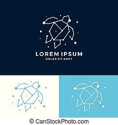 turtle, logo, anschluss, technologie, raum