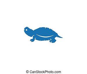 turtle logo - turtle animal cartoon icon image vector...