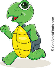 Vector illustration of running turtle eps vector - Search ...
