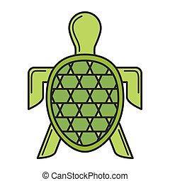 turtle sea silhouette icon