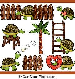 Turtle set digital elements
