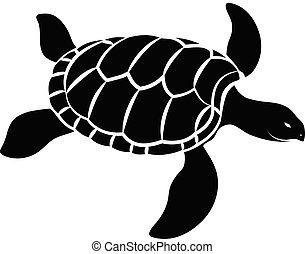Turtle Silhouette Vector
